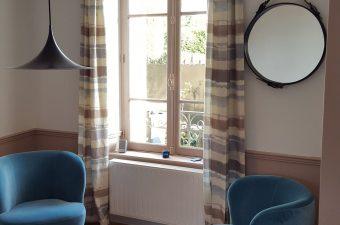Rideaux Suite 13 Dinard architecture d'intérieur décoration Saint Malo drugeot labo missoni tapisserie